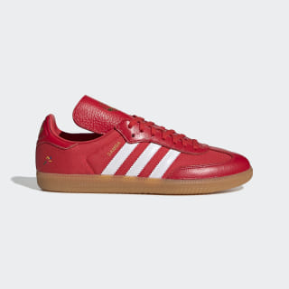 Oyster Holdings Samba OG Shoes Red / White / Gold Metallic G26700