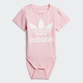 Trefoil Bodysuit Light Pink / White D96071