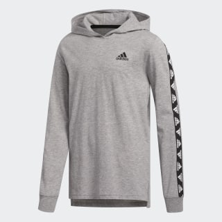 Heather Hooded Badge of Sport Tee Grey Heathered CM5089