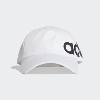 Linear Bold Baseball Hat White / White / Black ED0319