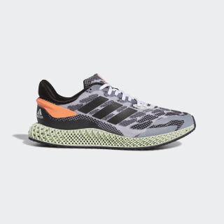 4D Run 1.0 Schuh Cloud White / Core Black / Signal Coral FW1233