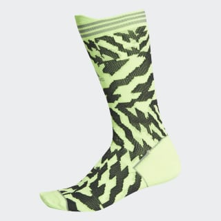 Chaussettes Alphaskin Construction Tape Signal Green / Black / Grey Three FK0932