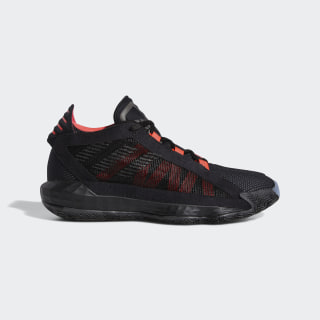 Zapatillas de básquet Dame 6 Core Black / Trace Grey Metallic / Shock Red EH2791
