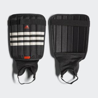 Evertomic Shin Guards Black / White / Solar Red AP7029