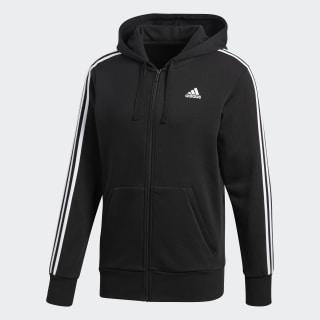 Essentials 3-Stripes Hoodie Black / White S98786