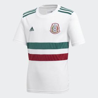 Jersey Oficial Selección de México Visitante Niño 2018 WHITE/COLLEGIATE GREEN/COLLEGIATE BURGUNDY BQ4687