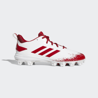 Adizero Afterburner V MD Cleats Cloud White / Power Red / Grey One CG5233
