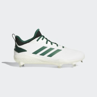 Adizero Afterburner V Cleats Running White / Dark Green / Core Black CG5225