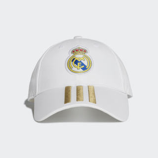 Gorra 3 Franjas Real Madrid White / Dark Football Gold DY7720