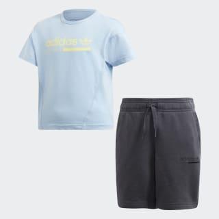 Kaval Shorts Set Clear Sky / Grey DV2347
