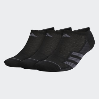 Superlite Stripe 2 No-Show Socks 3 Pairs Black CM5773