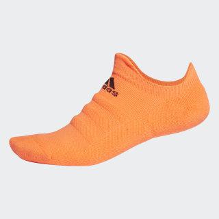 Alphaskin Lightweight Cushioning No-Show Socks Solar Orange / Black EH4305