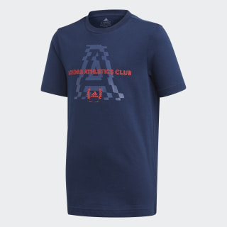 adidas Athletics Club Graphic Tee Collegiate Navy FM4495