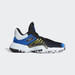 D.O.N. Issue #1 Shoes Core Black / Glow Blue / Shock Yellow EF9908