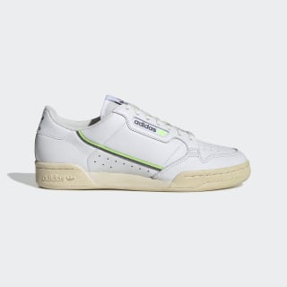 Continental 80 Shoes Cloud White / Grey Four / Signal Green EF5992