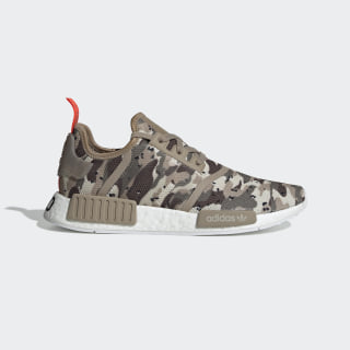 NMD_R1 Shoes Clear Brown / Clear Brown / Solar Red G27915