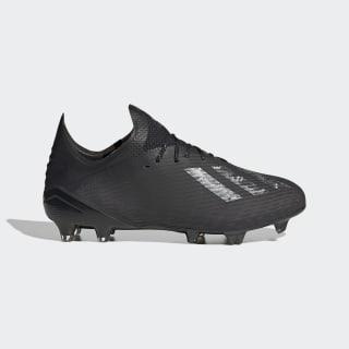 Bota de fútbol X 19.1 césped natural seco Core Black / Core Black / Silver Metallic EG7127
