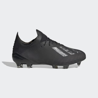 Scarpe da calcio X 19.1 Firm Ground Core Black / Core Black / Silver Metallic EG7127