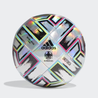 Uniforia Training Ball Silver Metallic / Signal Green / Bright Cyan / Shock Pink FH7353