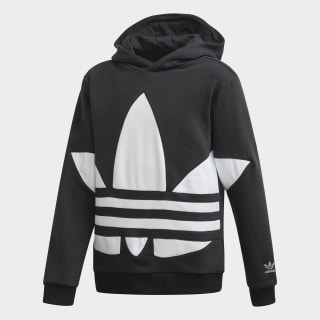 Big Trefoil hoodie Black / White FS1857