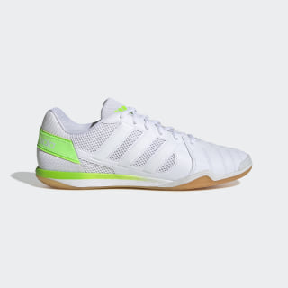 Botas de Futebol Top Sala Cloud White / Cloud White / Signal Green FV2558