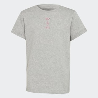 Camiseta Linear Logo Medium Grey Heather / Scarlet FT8819