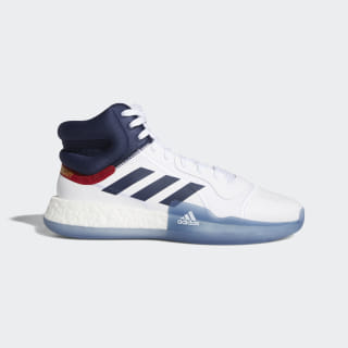 Zapatilla Marquee Boost Ftwr White / Collegiate Navy / Power Red EH2451
