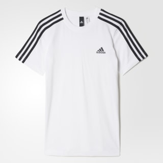 Playera Essentials 3-Stripes WHITE/BLACK BK3503