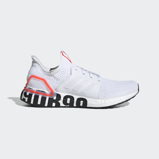 Scarpe Ultraboost 19 DB Cloud White / Cloud White / Solar Red FW1970