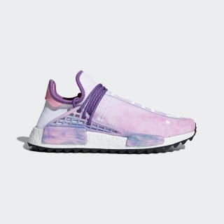 new styles 7fe6b 9a8d1 Pharrell Williams Hu Holi NMD MC Shoes Pink Glow  Lab Green  Flash Purple  AC7362