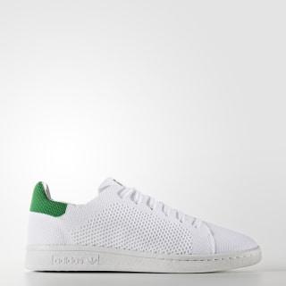 Stan Smith Primeknit Shoes Cloud White / Cloud White / Green S75351