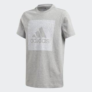 Must Haves Badge of Sport T-Shirt Medium Grey Heather FM4488