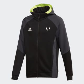 Messi Full-Zip Hoodie Black / Solar Yellow ED5722