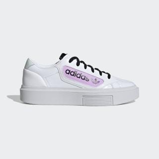adidas Sleek Super Schuh Cloud White / Crystal White / Clear Lilac EF4953