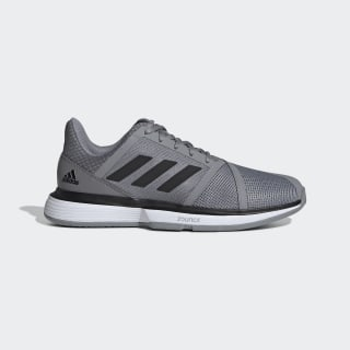 CourtJam Bounce Schuh Grey Three / Core Black / Cloud White EE4318