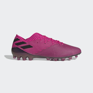 Bota de fútbol Nemeziz 19.1 césped artificial Shock Pink / Core Black / Shock Pink FU7033