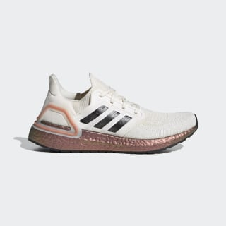 Ultraboost 20 Shoes Chalk White / Core Black / Signal Coral EG0721