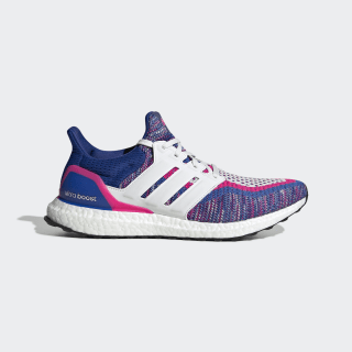 Ultraboost Multicolor Shoes Blue / Crystal White / Shock Pink EG8107