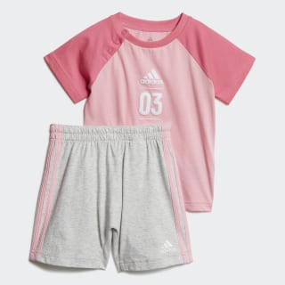 Комплект: футболка и шорты Summer light pink / semi solar pink / white DV1239