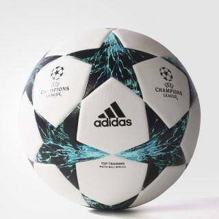 Finale 17 Top Training Ball White / Core Black / Dark Green / Energy Blue BQ1852