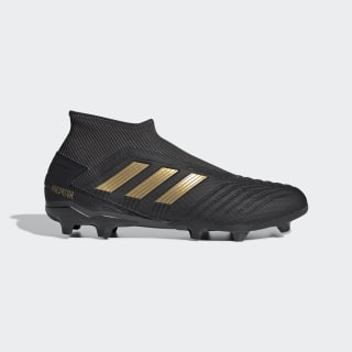 Predator 19.3 Firm Ground Boots Core Black / Gold Metallic / Utility Black EF0374