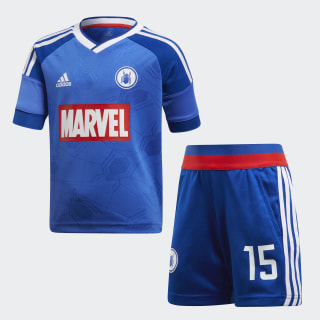 Conjunto Futebol Marvel Spider-Man HI-RES BLUE S18/COLLEGIATE ROYAL/WHITE/VIVID RED COLLEGIATE ROYAL/WHITE/VIVID RED S13 DI0198