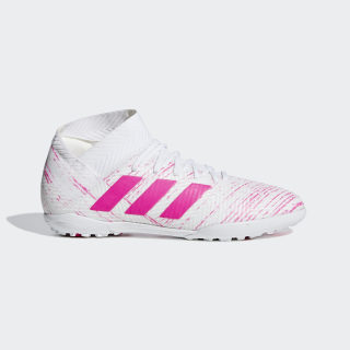 Zapatos de Fútbol Nemeziz Tango 18.3 Césped Artificial Cloud White / Shock Pink / Shock Pink CM8518