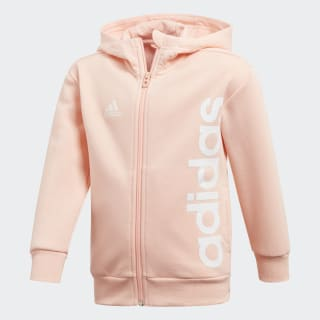 Little Kids Full Zip Hoodie Haze Coral / White DJ1533