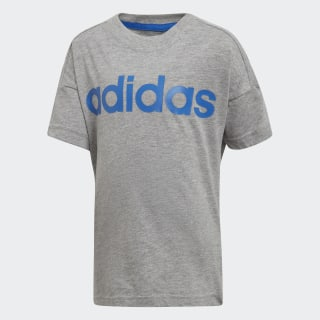 Little Kids Linear Tee Medium Grey Heather / Blue DJ1532