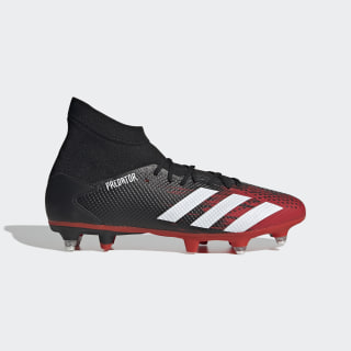 Scarpe da calcio Predator 20.3 Soft Ground Core Black / Cloud White / Active Red EF1998
