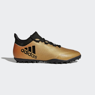 Zapatos de Fútbol X Tango 17.3 Césped Artificial TACTILE GOLD MET. F17/CORE BLACK/SOLAR RED CP9135