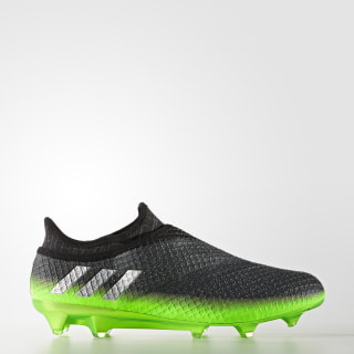 Calzado Fútbol Messi 16+ Pureagility FG DARK GREY/SILVER MET./SOLAR GREEN S76489