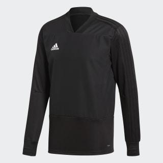 Camiseta manga larga entrenamiento Condivo 18 Player Focus Black / White CG0380