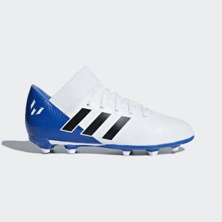 Calzado de Fútbol Nemeziz Messi 18.3 Terreno Firme Niño FTWR WHITE/CORE BLACK/FOOTBALL BLUE DB2364